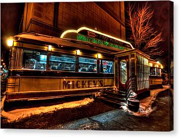 Mickey's Diner St Paul Canvas Print by Amanda Stadther