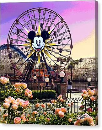 Mickey's Fun Wheel II Canvas Print by Doug Kreuger