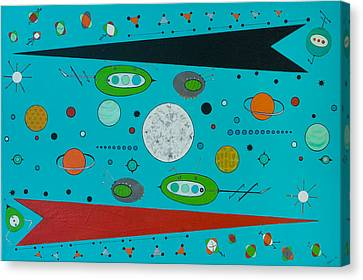 Micro Cosmic A Space Odyssey Canvas Print by Debra Jacobson