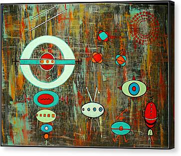 Micro Cosmic - Mother Ship Canvas Print by Debra Jacobson
