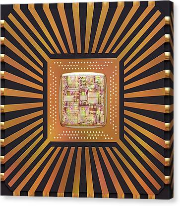 Component Canvas Print - Microchip by Ktsdesign