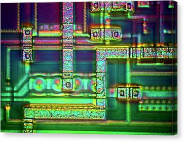 Microchip Surface Canvas Print