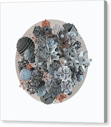 Microcosm Canvas Print by Pollyanna Illustration