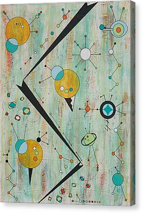 Microcosmic Outerspace Shindig Canvas Print by Debra Jacobson