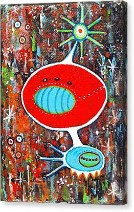 Microcosmic Twilight Canvas Print by Debra Jacobson