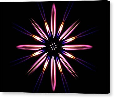Microgravity Flames Artwork Canvas Print by Nasa