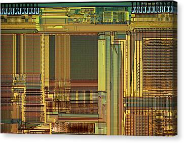 Electronic Component Canvas Print - Microprocessor Components by Antonio Romero