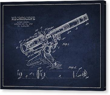 Microscope Patent Drawing From 1915 Canvas Print
