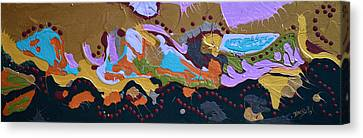 Microscopic Life Canvas Print by Donna Blackhall