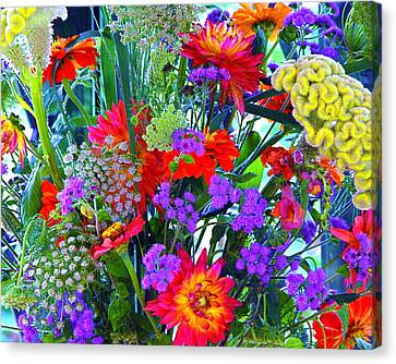 Mid August Bouquet Canvas Print