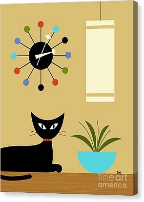 Mid Century Ball Clock 2 Canvas Print