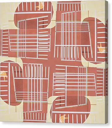 Mid-century Design Terra-cotta Canvas Print by Carol Leigh