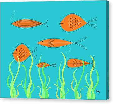 Mid Century Fish 2 Canvas Print