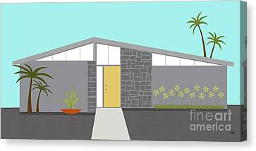 Mid Century Modern House 2 Canvas Print