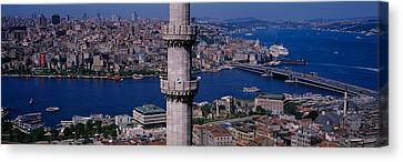 Mid Section View Of A Minaret Canvas Print by Panoramic Images