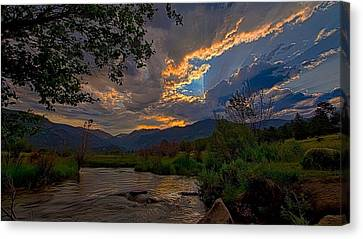 Canvas Print featuring the photograph Mid-summer Sunset by Darrell E Spangler