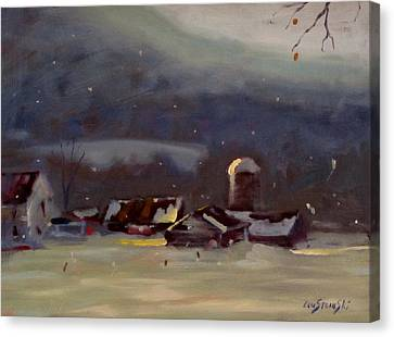 Mid Winter Canvas Print by Len Stomski