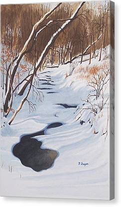 Mid Winter On The Alexauken Canvas Print