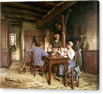 Sli Canvas Print - Midday Meal by Leon Augustin Lhermitte