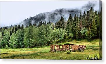 Old Country Roads Canvas Print - Midday Mist by Lena Sandoval-Stockley