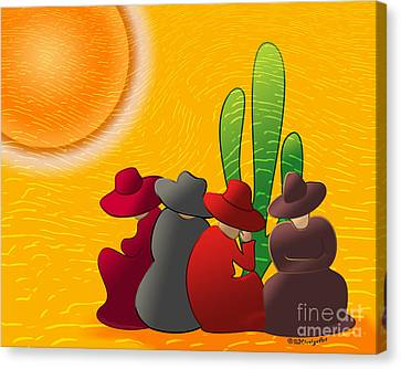 Midday Siesta Canvas Print by Methune Hively