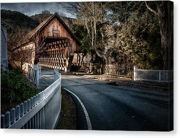 Middle Bridge - Woodstock Vermont Canvas Print by Thomas Schoeller