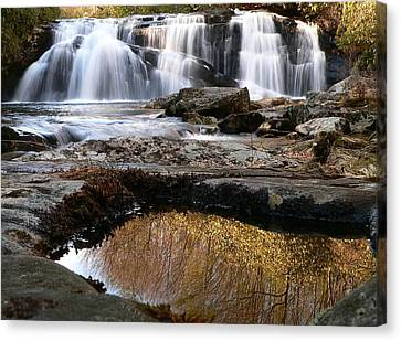 Canvas Print featuring the photograph Middle Falls On Big Snowbird Creek by Doug McPherson