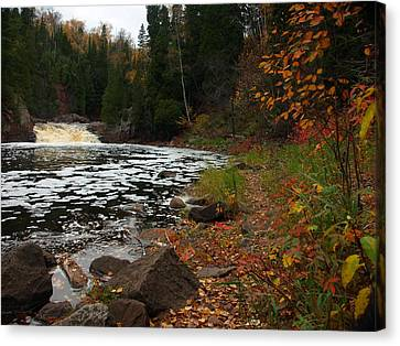 Middle Falls Tettegouche Canvas Print by James Peterson