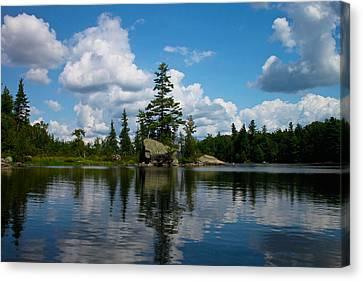 Middle Saranac Lake  Canvas Print by Steve Clough
