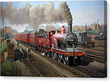 Midland Railway Single 1896. Canvas Print by Mike  Jeffries