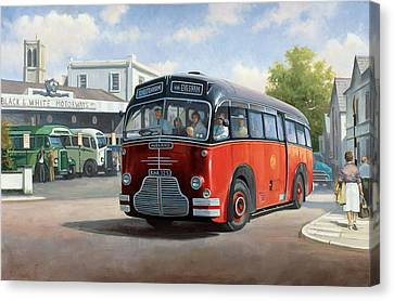 Midland Red C1 Coach. Canvas Print by Mike  Jeffries