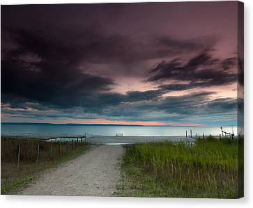 Picnic Table Canvas Print - Midland Sunset by Cale Best