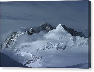 Midnigh Tview From Vinson Massif Canvas Print by Colin Monteath