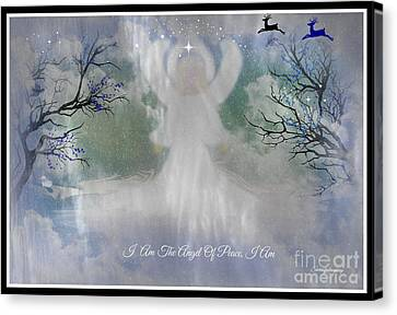 Midnight Angel Of Peace Canvas Print by Sherri's Of Palm Springs