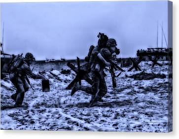 Midnight Battle Stay Close Canvas Print by Thomas Woolworth