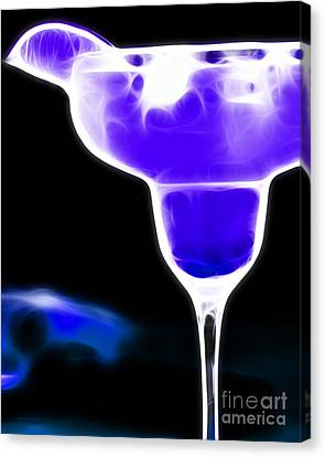 Midnight Blue Margarita Breeze Canvas Print by Wingsdomain Art and Photography