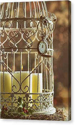 Midnight Candles Canvas Print by Amanda Elwell