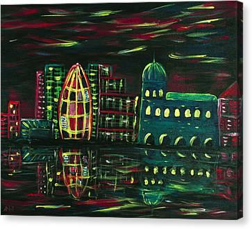 Midnight City Canvas Print