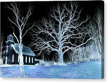 Midnight Country Church Canvas Print