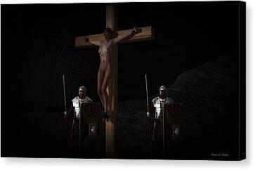 Midnight Crucifixion Canvas Print
