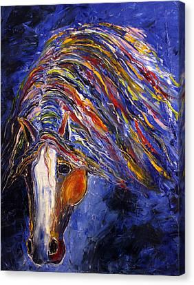 Canvas Print featuring the painting Midnight Dreams by Jennifer Godshalk