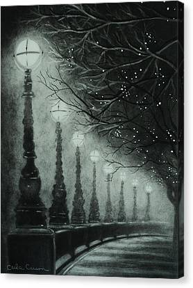 Midnight Dreary Canvas Print by Carla Carson