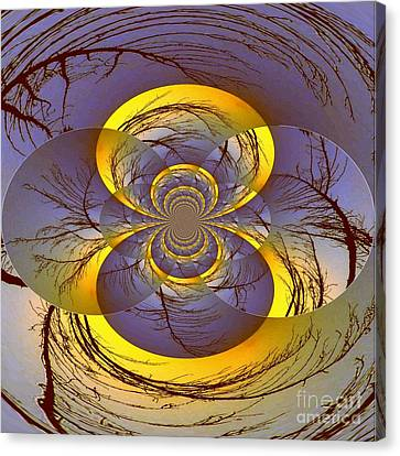 Midnight Energy Canvas Print by Mj Petrucci
