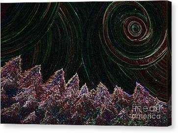 Midnight Forest By Jrr Canvas Print by First Star Art