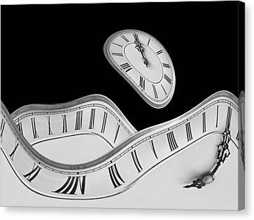 Designs On Face Canvas Print - Midnight Hallucinations In Mono by Gill Billington
