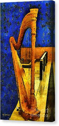 Midnight Harp Canvas Print by RC DeWinter