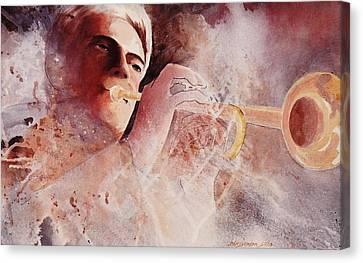 Midnight Improv   Canvas Print by John  Svenson