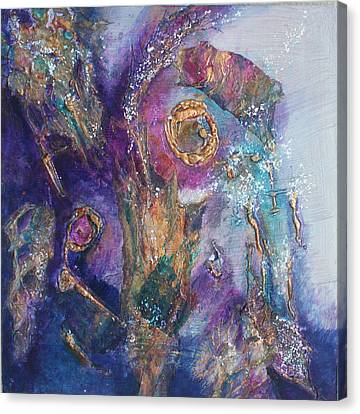 Midnight In The Enchanted Forest Canvas Print