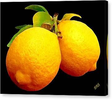 Midnight Lemons Canvas Print by Ben and Raisa Gertsberg