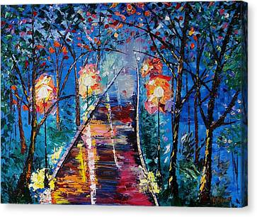 Midnight Lights Canvas Print by Kevin  Brown
